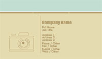 Green and Beige Camera Business Card Template